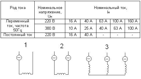 Схема включения: 1